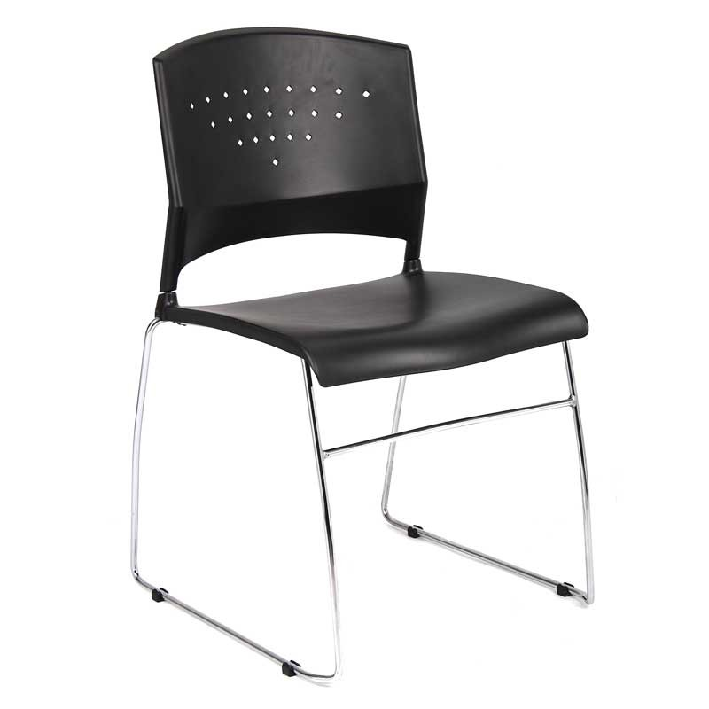 Black Stackable Guest Chair & Accessories