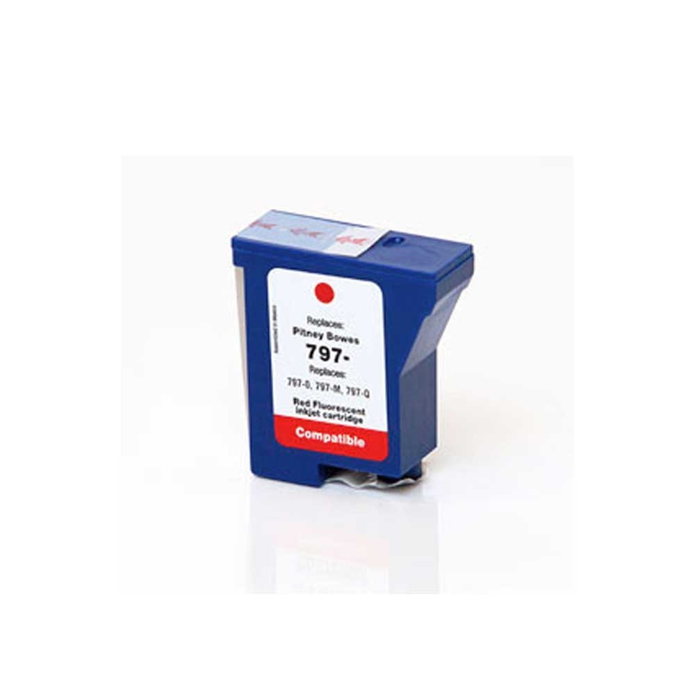 Pitney-Bowes Ink Cartridge - Red - Compatible - OEM 797-0