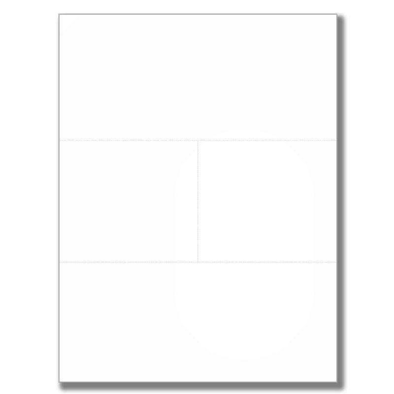 CF/B (4-part) coated paper, 8 1/2x11, 2 horizontal-1 vertical perf