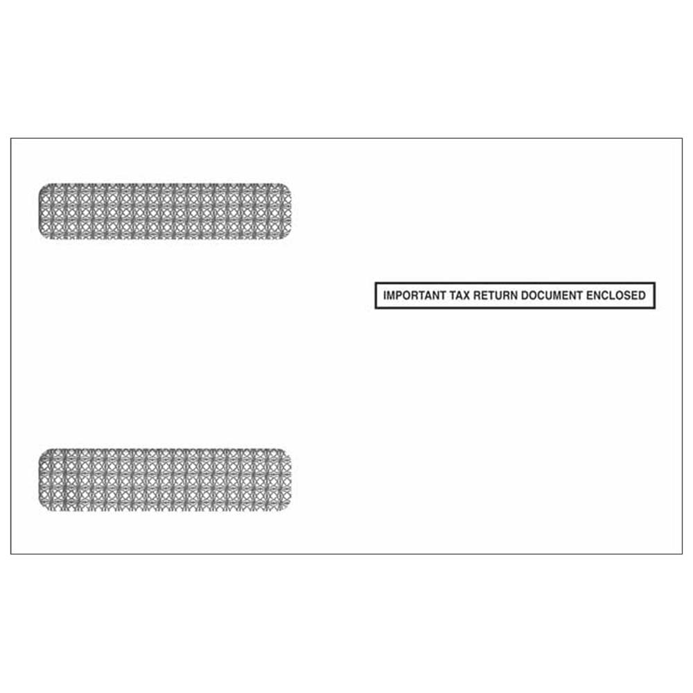 4up W-2 Double Window Envelopes - Self Seal
