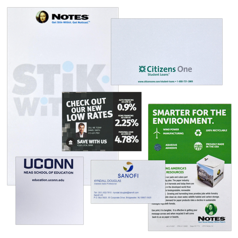 Stik-Withit Sticky Notes on Ultra White Paper