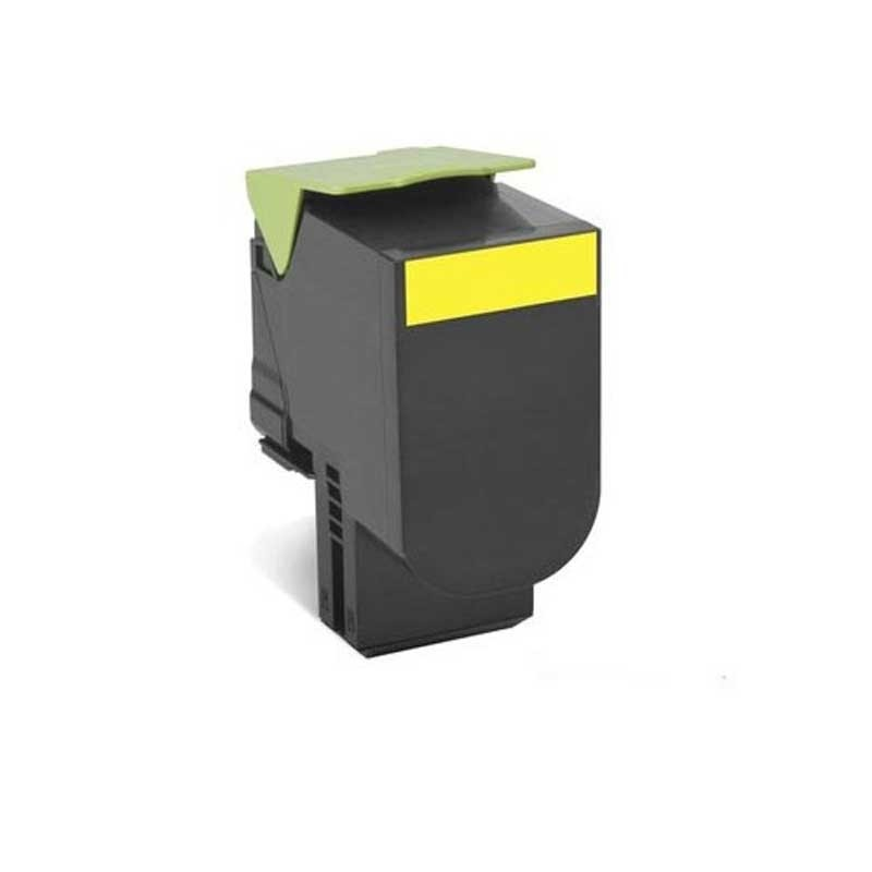 Lexmark High Yield Toner Cartridge - Yellow - Compatible - OEM 70C1HY0