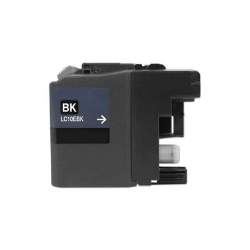 Brother High Yield Ink Cartridge - Black - Compatible - OEM LC10EBK