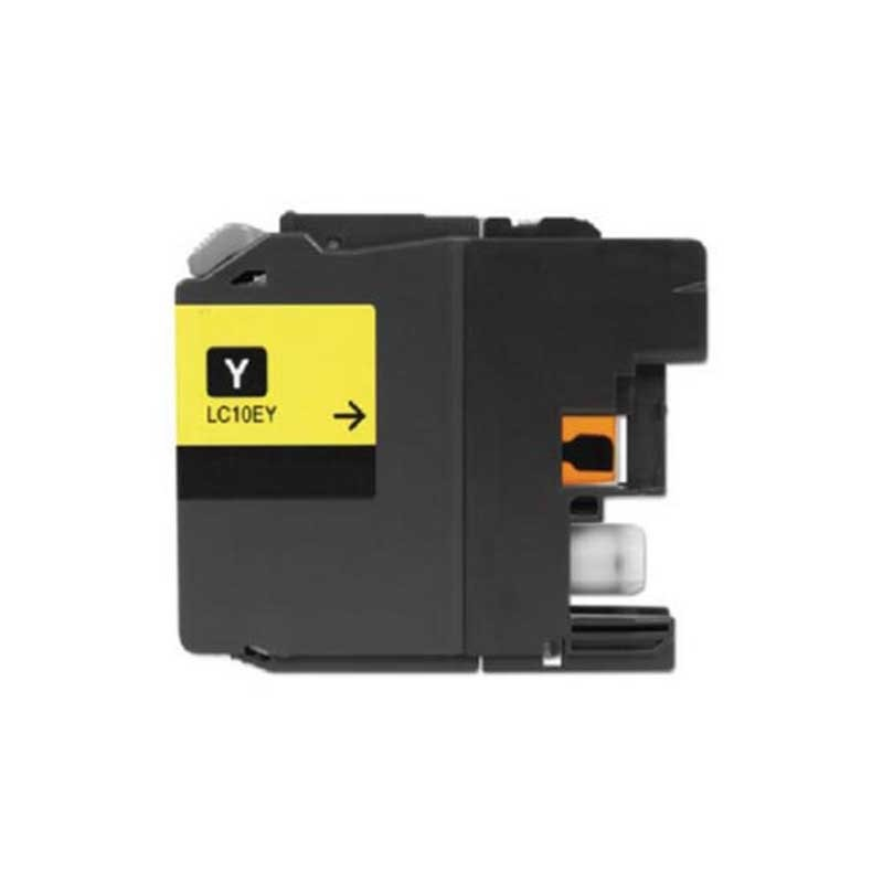Brother High Yield Toner Cartridge - Yellow - Compatible - OEM LC10EY