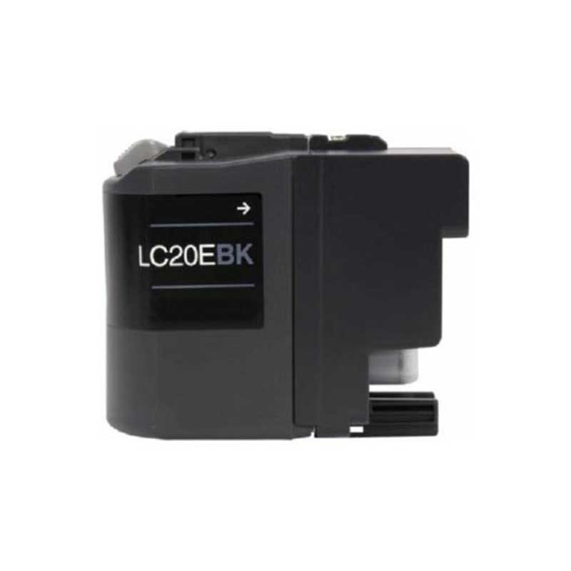 Brother High Yield Ink Cartridge - Black - Compatible - OEM LC20EBK