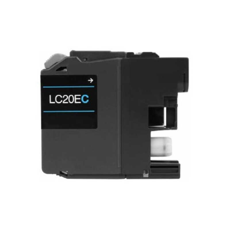 Brother High Yield Toner Cartridge - Cyan - Compatible - OEM LC20EC