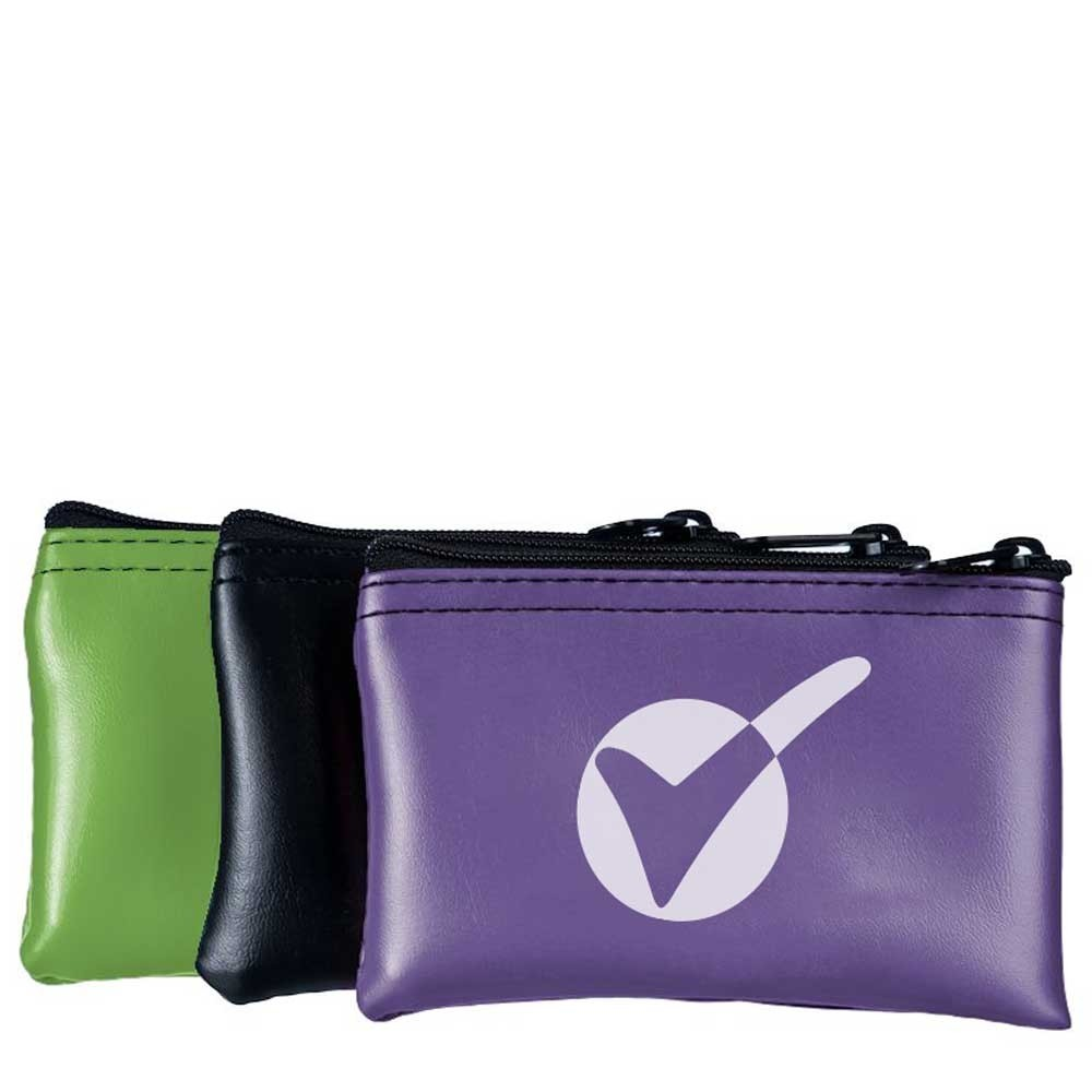 5W x 3H Expanded Vinyl Horizontal Mini Zipper Bags - Made to Order