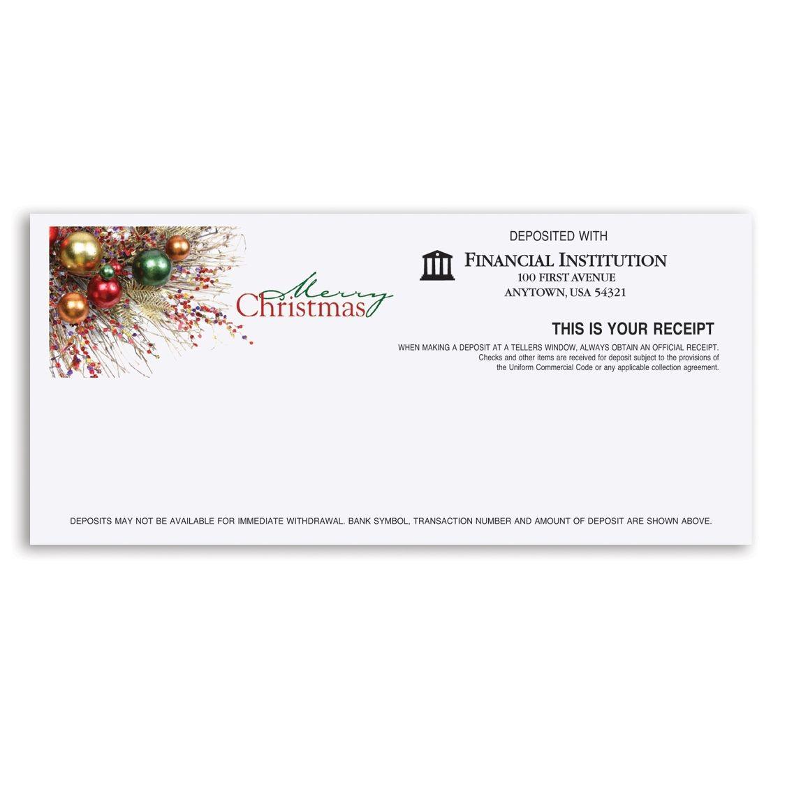 Merry Christmas Teller Receipt