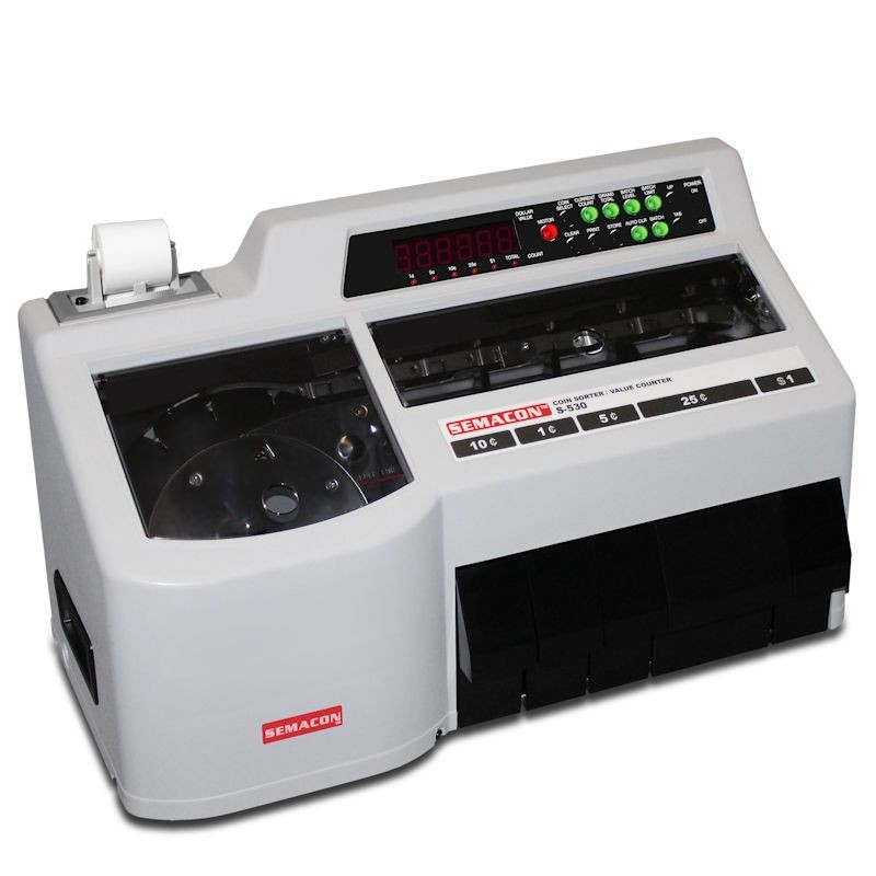Semacon S-530 Coin Counter w/Thermal Printer