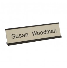 Desk Nameplate With Frame - 8W x 2H - 1 Line