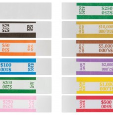 graphic regarding Printable Currency Straps called Self-Sealing Invoice Straps - Trays of 1000 Straps