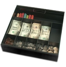 Metal 5 Cash/5 Coin Tray with Extra Storage