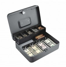 Tiered Cash Box w/Bill Weights - 11-13/16W x 3-9/16H x 9-7/16D