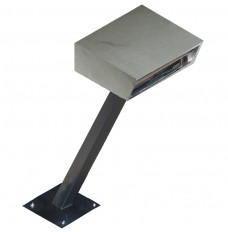 Stainless Steel Drive Up Forms Dispenser with Fixed Square Base and Angled Stand