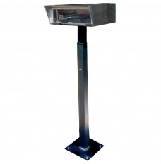 Stainless Steel Drive Up Forms Dispenser with Fixed Square Base for Permanent Mounting