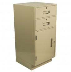 Fenco Silverline Teller Pedestal, (2) Drawers and (1) Door