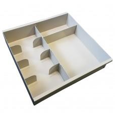 Fenco Metal Cash Tray - 5 Cash & 1 Large Compartment