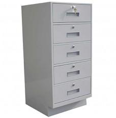 Fenco Silverline Teller Pedestal, (5) Drawers