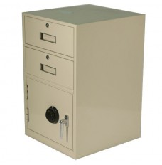 Fenco Silverline (2) Drawers, (1) Combination Locking Cabinet