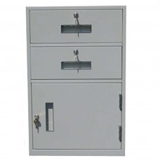 Fenco Silverline Lowboy Pedestal, (2) Drawers, (1) Cabinet