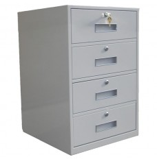 Fenco Silverline Lowboy Pedestal, (4) Drawers