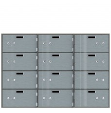 Safe Deposit Boxes - 12 Boxes 10 in W x 5 in H