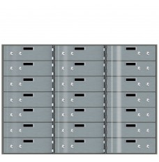 Safe Deposit Boxes - 21 Boxes 10 in W x 3 in H