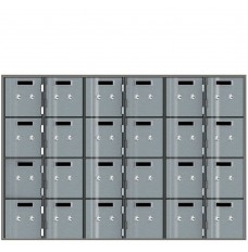 Safe Deposit Boxes - 24 boxes 5 in W x 5 in H