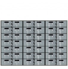 Safe Deposit Boxes - 42 Boxes of 5 in W x 3 in H