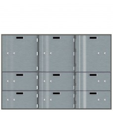 Safe Deposit Boxes - 3 Boxes 10 in W x 10 in H / 6 Boxes 10 in W x 5 in H