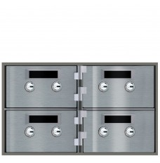 Safe Deposit Boxes - 4 Boxes 5 in W x 3 in H