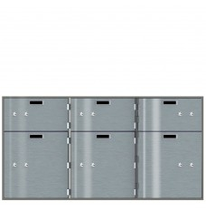 Safe Deposit Boxes - 3 Boxes 10 in W x 5 in H / 3 Boxes 10 in W x 10 in H