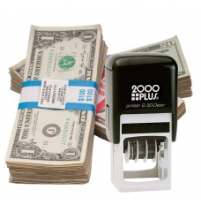 Fed Compliant Self-Inking Date Stamp for Bill Straps