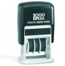 Date Stamp w/1 color ink pad - 1-1/16W x 1/4H