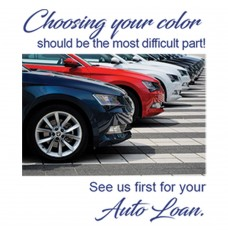 Pre-Designed Drive Up Envelope - Auto Loan - Choosing Your Color