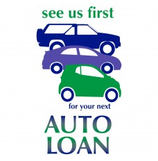Pre-Designed Drive Up Envelope - See us first - Auto Loan