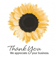 Pre-Designed Drive Up Envelope - Thank you - Sunflower