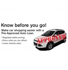 Pre-Designed Drive Up Envelope - Pre-Approved Auto Loan