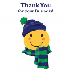 Pre-Designed Drive Up Envelope - Thank You for your Business! - Winter Smiley