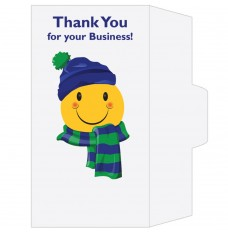 Ready-to-Ship Drive Up Envelopes - Thank You For Your Business - Winter Smiley