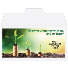 Ready-to-Ship Drive Up Envelopes - Grow Your Money - w / 1 Color Custom Print