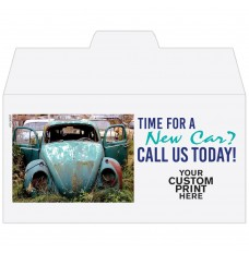 Ready-to-Ship Drive Up Envelopes - Time For a New Car? - w / 1 Color Custom Print