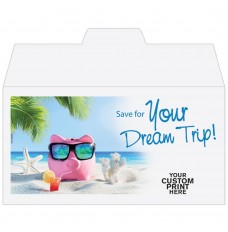Ready-to-Ship Drive Up Envelopes - Save for Your Dream Trip! - w / 1 Color Custom Print