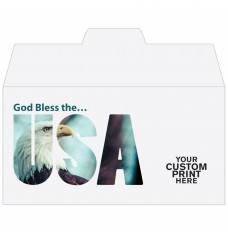 Ready-to-Ship Drive Up Envelopes - God Bless the USA - w / 1 Color Custom Print