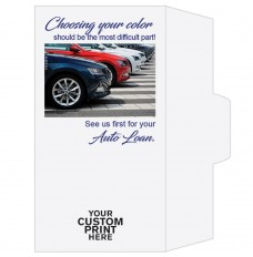 Ready-to-Ship Drive Up Envelopes - Choosing Your Color - Auto Loan - w / 1 Color Custom Print