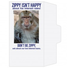 Ready-to-Ship Drive Up Envelopes - Zippy Isn't Happy - Low Interest Rates