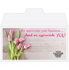 Ready-to-Ship Drive Up Envelopes - We Appreciate You - Tulips - w / 1 Color Custom Print