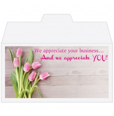 Ready-to-Ship Drive Up Envelopes - We Appreciate You - Tulips