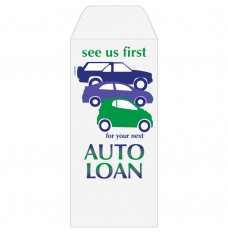 Ready-to-Ship Drive Up Envelopes - Auto Loan - See Us First