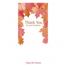 Pre-Designed Drive Up Envelope - Thank You for Your Business - Enjoy the Season